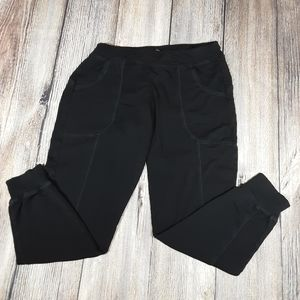 Eileen Fisher small petite leisure joggers black